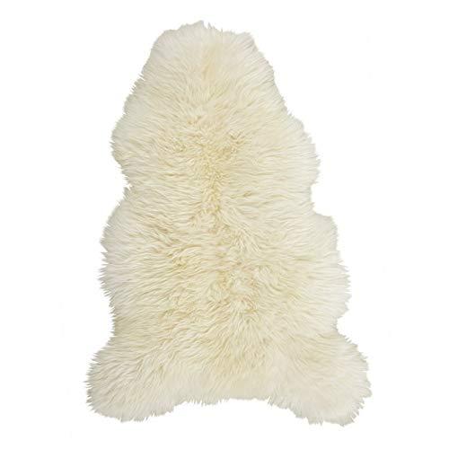 Amazinggirl Lammfell in Einer Geschenkverpackung, Schaffell, Naturform, Echt Fell Naturfell Sheepskin (Weiß, 100 x 110 cm)
