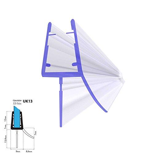 STEIGNER Duschdichtung, 80cm, Glasstärke 3,5/4/5 mm, Gerade PVC Ersatzdichtung für Dusche, UK13