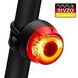ORSILAND Fahrrad Rücklicht, StVZO Zugelassen Ultra Hell Fahrradrücklicht LED USB Aufladbar, Wasserdichte Fahrradlicht Fahrradlampe Aufladbar für Radfahren