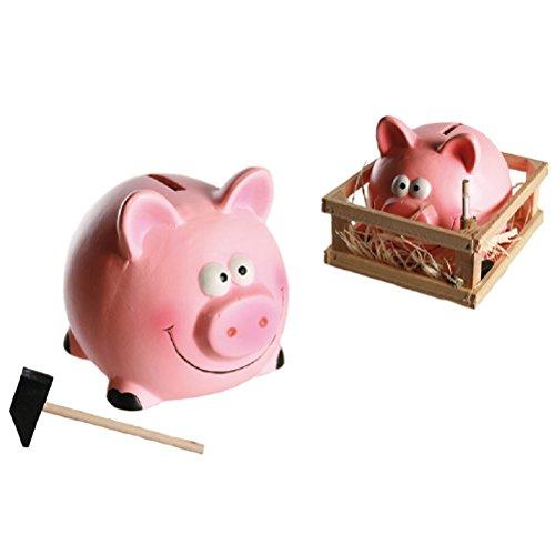 Sparschwein aus Keramik in der Kiste 14 x 12 cm