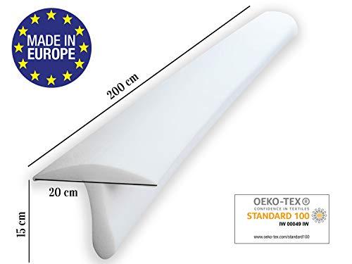 ENTSPANNO Matratzenbrücke in Weiß für Doppel-Bett | 200 x 20 x 15 cm | Liebesbrücke Ritzenfüller für eine große, breite Liegefläche