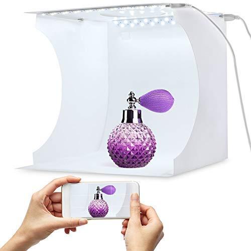 Tragbarer Foto-Studio-Ministand-Schießzeltinstallationssatz faltende Fotografie Leuchtkasten mit Würfel der Helligkeit 2x20 LED Streifen 8 '6 Farben-Hintergrund