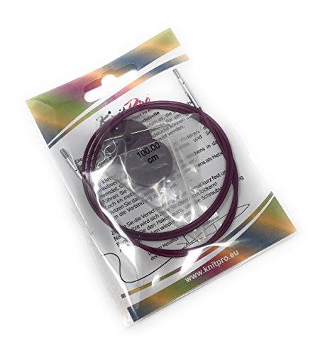 Knit Pro Seile + Endkappen + Schlüssel, verschiedene Längen