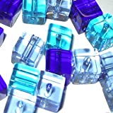 A3044-Kristall-Glasperlen, 4mm, Blau, kubisch, 100Stück