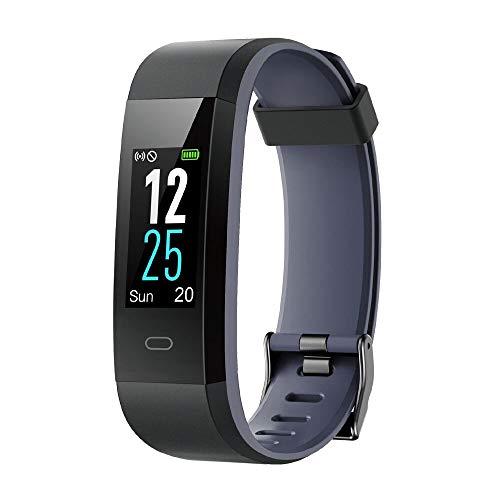 Willful Fitness Armband mit Pulsmesser,Wasserdicht IP68 Fitness Tracker Farbbildschirm Aktivitätstracker Pulsuhren Schrittzähler Uhr Smartwatch Vibrationsalarm Anruf SMS Beachten für iOS Android Handy