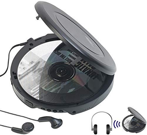 auvisio CD Spieler: Tragbarer CD-Player mit Ohrhörern, Bluetooth und Anti-Shock-Funktion (Tragbarer CD Spieler)