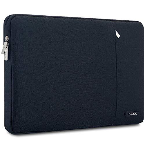 HSEOK 13 Zoll Laptop Sleeve Tasche Hülle konmatibel mit 2018 MacBook Air 13' mit Retina A1932 | 13' MacBook Pro A1706/A1708 | XPS 13 | Surface Pro 6, NoteBook Stoßfest Wasserdicht Schutzhülle, Schwarz