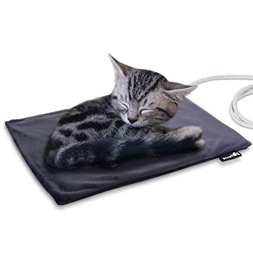 Pecute Haustier Heizkissen Heizmatte für Hund Katze Wärmematte Konstante Temperatur Sicher und wasserdicht Heizdecke S(40 * 32cm)