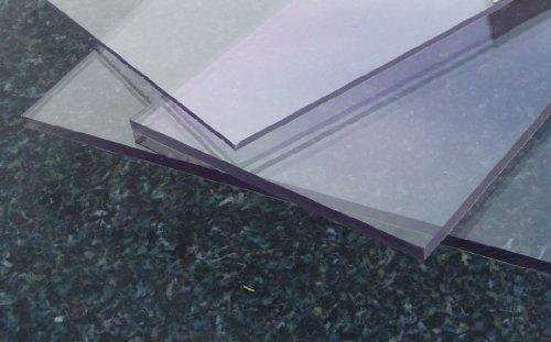 Platte aus Polycarbonat UV klar riesen Auswahl div. Größen und Stärken Top Qualität von alt-intech (PC 4 mm UV, 1000 x 600)