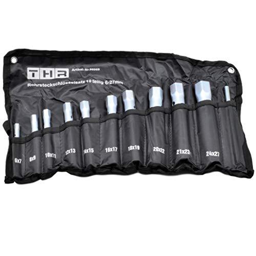 Rohrsteckschlüsselsatz 10-tlg. 6-27mm in Rolltasche