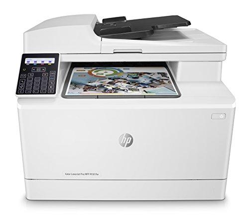 HP Color LaserJet Pro M181fw Multifunktions-Farblaserdrucker (Drucken, scannen, kopieren, faxen, WLAN, LAN, Duplex, Airprint) weiß