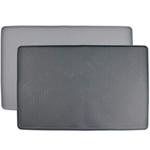 MIHOO Napfunterlage aus Silikon für Katze oder Hund 48x30cm (Schwarz)