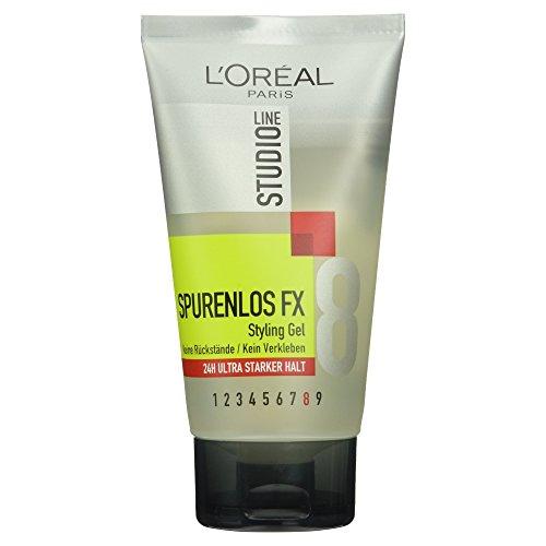 L'Oréal Paris Studio Line Spurenlos FX Styling Gel 24h Ultra Starker Halt, schont das Haar schon beim Styling, 150ml