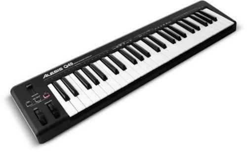Alesis Q49 USB MIDI Keyboard Controller mit 49 Tasten, Pitch und Modulation Wheels, Octave Up und Down Buttons und Inklusive Ableton Live Lite