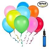 Party Luftballons 150 Stück mit 1 Handpumpe Bunte Ballons Sortierte Farben für Geburtstag, Weihnachten, Hochzeit