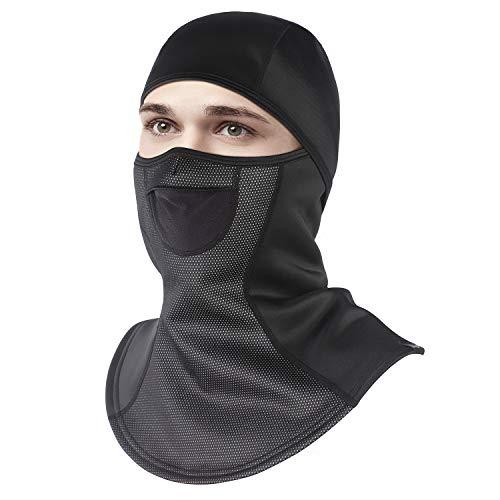 Unigear Sturmhaube, Balaclava Gesichtsmaske Skimaske Gesichtshaube Motorradmaske, Atmungsaktiv Thermoaktiv, Windschutz Ohrenschutz für Skifahren Motorradfahren Radfahren (L)