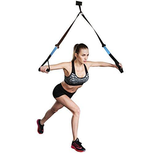 Schlingentrainer Set Sling Trainer Schlingentraining mit Türanker für Ganzkörpertraining zuhause oder im Fitnessstudio von HallSpo
