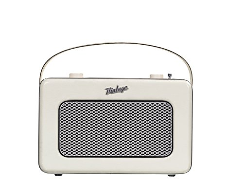 NIKKEI NPR200WE Radio Tragbar   Portable Radio   Vintage   Aux-in   FM   Weiß