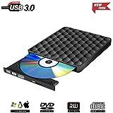Externes CD DVD Laufwerk USB 3.0,Tragbar Extern DVD Brenner DVD CD-RW Row für Windows 7 8 10, Mac OS, iMac, PC
