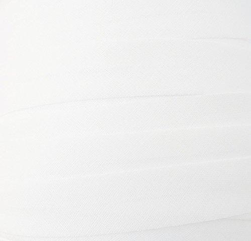 Schrägband / Textilband - Blende 'Weiß' 20 mm / Baumwolle (10 Meter)