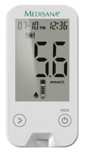 Medisana MediTouch 2 Blutzuckermessgerät mmol/L 79034, inkl. Starterset für eine kontrollierte Blutzucker-Überwachung bei Diabetes