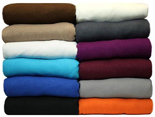 NatureMark Winter Thermo Fleece Spannbettlaken, Spannbetttuch in vielen Farben und Größen Bettlaken | 90 x 190 bis 100 x 200 cm - anthrazit
