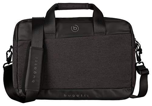 Bugatti Universum Businesstasche für Herren mit 13' Laptopfach, Arbeitstasche Aktentasche Große Bürotasche, Schwarz
