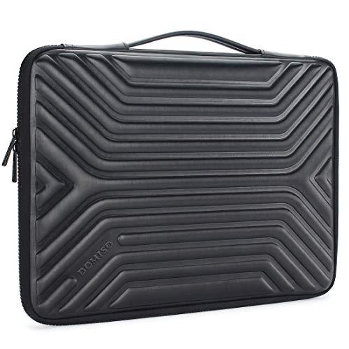 DOMISO 15-15,6 Zoll Wasserdicht Laptophülle Notebook Tasche Schutzhülle mit Griff für 15.6' Lenovo IdeaPad ThinkPad/HP Spectre x360 Pavilion 15 Envy 15 / Dell XPS 15 / Apple/Asus, Schwarz
