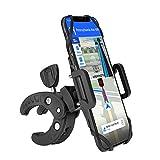 Eletorot Handyhalterung Fahrrad, 360° Drehbarer Universal Motorrad Handyhalter für iPhone, Galaxy, Huawei und alle 4,3-6,5 Zoll Smartphone, Schwarz
