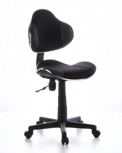 hjh OFFICE 634120 Kinder Schreibtischstuhl KIDDY GTI-2 Stoff Grau/Schwarz ergonomischer Jugenddrehstuhl höhenverstellbar