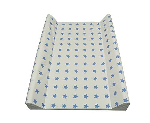 Wickelauflage Wickelmulde 50 x 70 cm oder 75 X 85 (70 X 50 cm II - Keil, Sterne blau)