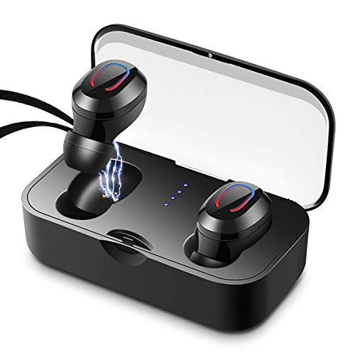Wireless Earbuds, 20H Spielzeit, IPX5 Wasserdicht Bluetooth Kopfhörer Kabellose Ohrhörer mit Mikrofon, HD Stereo, CVC6.0 Geräuschunterdrückung, Bluetooth 5.0 Sport Kopfhörer für Jogging
