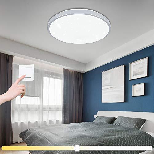 VINGO 60W LED Deckenleuchte Farbwechsel Sternenhimmel Wohnzimmerlampe Küchenleuchte Deckenbeleuchtung Panel Lüster Sternenhimmel Ultraslim Schlafzimmer Esszimmer energiesparend