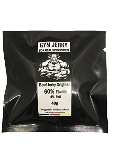 AKTION Gym Jerky Beef Original 1kg | 25x40g | High Protein 60% | Low Fat