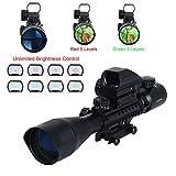 Latinaric 4-12X50EG Zielfernrohr Holographic 4 Reticles Red & Green Dot Sight Optik Visier scopes für Jagd Luftgewehr