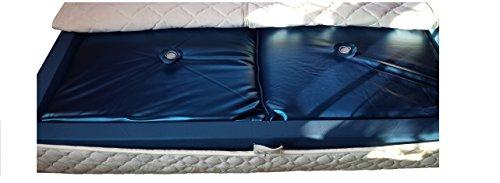 Mesamoll2 Wasserbetten Matratze 90x200 cm/Wassermatratze für DUAL Softside Wasserbett/Außenkante 180x200 cm/F4 90% Beruhigung