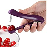 Ouken 13x8.4cm Edelstahl Kirschentkerner Fruchtkern Seed-Remover-Werkzeug Kirschen Corer Obst Werkzeug Gadgets Küchenzubehör