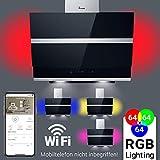 Dunstabzugshaube Wandhaube 60cm kopffrei/Sensor Touch/RGB Beleuchtung/LED-Anzeige/Smart App/KKT KOLBE