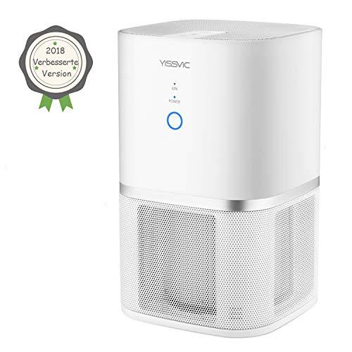 Yissvic Luftreiniger Air Purifier 5-Stufen-Filterung für 99,97% Filterleistung mit Aktivkohle und HEPA-Kombifilter Ideal für Allergiker und Raucher