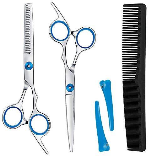Vintoney Friseurscheren Set, Professionelle Haarschere Set Friseur Scheren und Effilierschere für Salon, Friseur oder zu Hause, Leicht und Scharf
