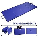 CCLIFE 200x100/245x120x5 Blau Weichbodenmatte Turnmatte Klappbar Gymnastikmatte
