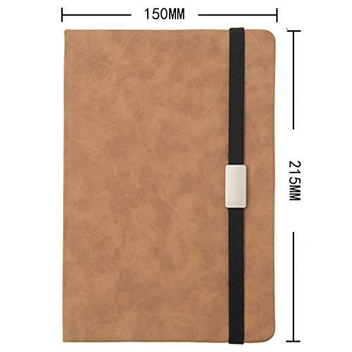 LJFYMX notizblock Sub-Notebook, weiches Leder Buch Arbeit Büro Protokoll der Sitzung, Vier Loaded notizbuch a6 (Color : C)