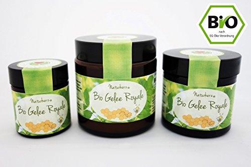 Naturherz Bio Gelée Royale | 100% frisches Gelée in Premium Imkerqualität (100 g)