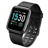 LATEC Smartwatch, Fitness Armband Wasserdicht IP68 Fitness Tracker mit Pulsmesser 1,3 Zoll Farbbildschirm Aktivitätstracker Fitness Uhr Schlafmonitor Schrittzähler Stoppuhr Anruf SNS für Android iOS