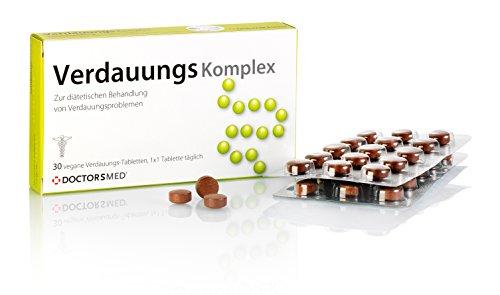 Verdauungs Komplex - Natürliche Verdauungs Tabletten gegen Magenbeschwerden wie Verstopfung, Blähungen, Bauchkrämpfe oder Völlegefühl, Verdauungsfördernd