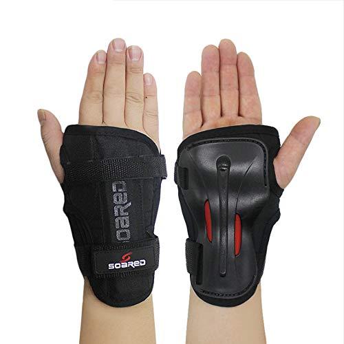 Ges Ski-Handschützer Lange Handgelenkschützer Rollschuhhand Handschuhhandschützer Harte Hand Unterst (Schwarz, M)