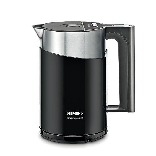 Siemens TW86103P Wasserkocher (2400 W, Temperaturauswahl, Abschaltautomatik, Warmhaltefunktion, Überhitzungsschutz, Fassungsvermögen 1,5 L) schwarz/anthrazit