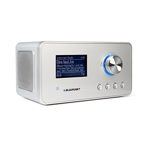 Blaupunkt IRD 30 Internetradio- DAB+-Radio - Digitalradio mit Radiowecker - Wlan Küchenradio- Digital-Radio als Badradio - DAB - UKW-Tuner - Miniradio in Retro-Design - Uhrenradio, Silber