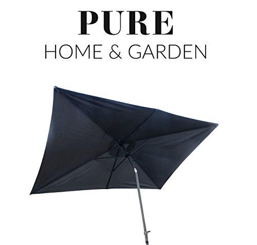 Pure Home & Garden Kurbelschirm '300x200 anthrazit', mit UV-Schutz 40 Plus, Knicker und abnehmbarem Bezug