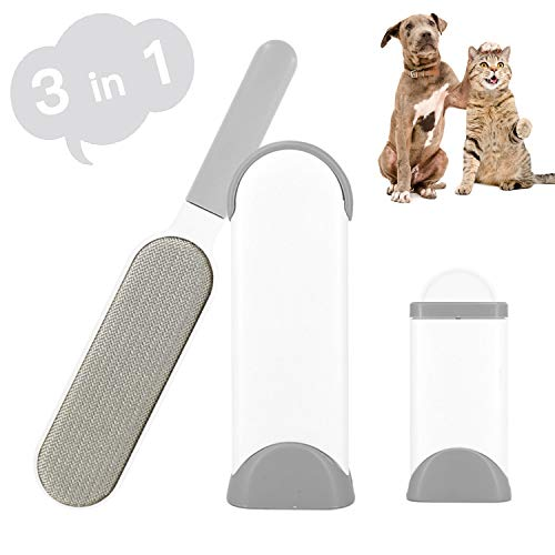 Fusselbürste Tierhaare, Haustier Bürsten - Haustier Pelz und Fussel entfernen, Fusselentferner mit selbstreinigender doppelseitiger Basisbürste entfernt Hunde- und Katzenhaare von Kleidung, Möbeln